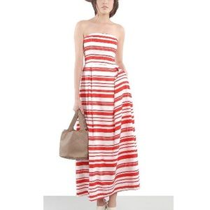 5/$30 Cannes D'Azure red Stripes vacation Maxi